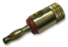 PRO SIGNAL PSG02038  4Mm Plug Gold/Red Short Body